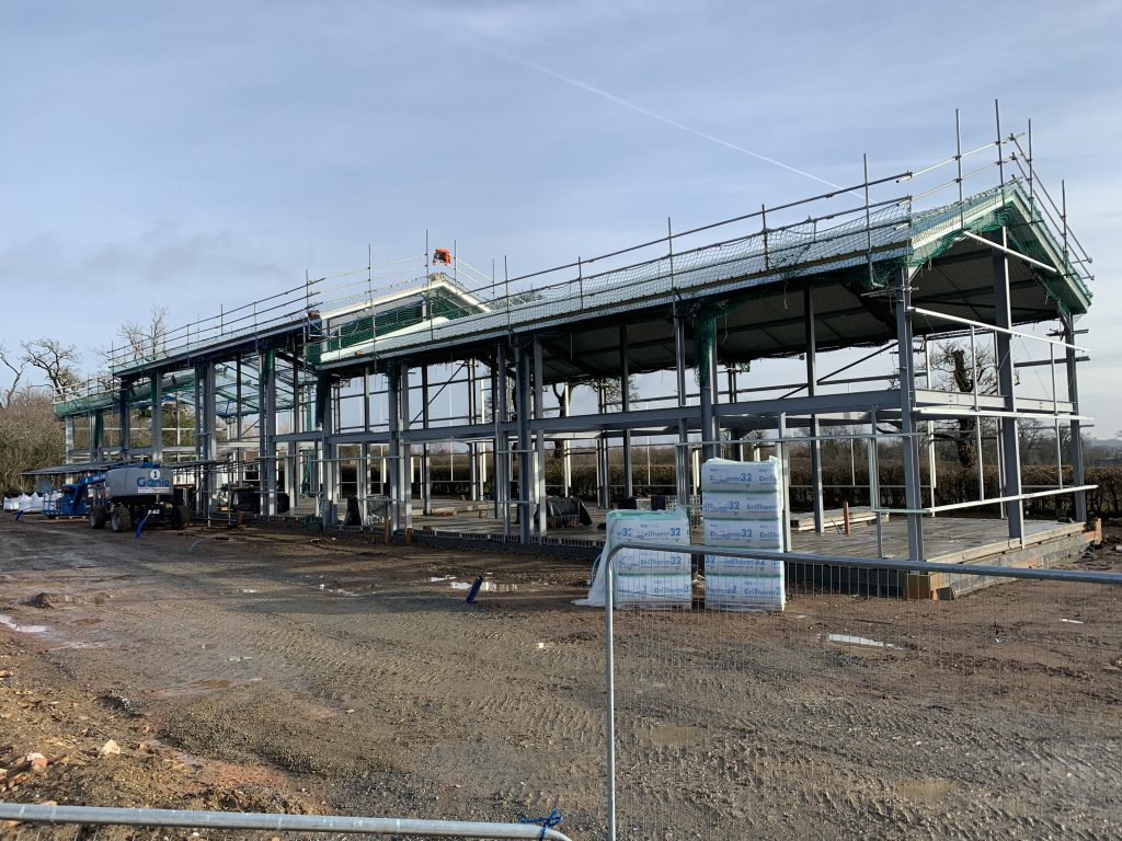Commercial building contractor Seamans Building, Suffolk - Office space and units commercial use underway